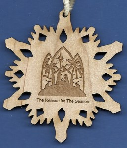 Nativity Snowflake Ornament - The Reason for the Season