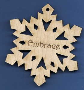 Embrace Inspirational Snowflake