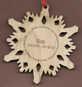 Memorial Snowflake w/name and dates #1
