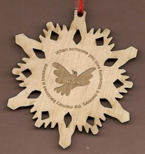 Memorial Snowflake Dove #1